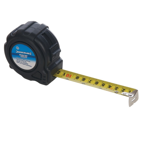 Silverline 250192 Chunky Metric & Imperial Tape Measure 5m / 16ft (Width 25mm)